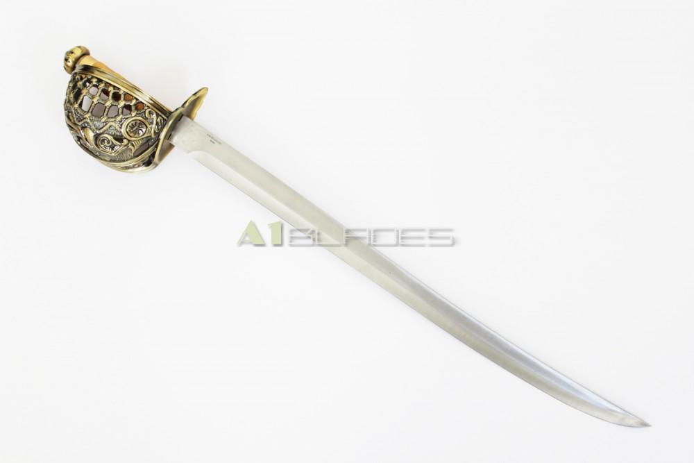 "30"" Mermaid Pirate Cutlass Sword with Basket Guard ..."